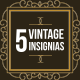 5 Featured Vintage Insignias - GraphicRiver Item for Sale
