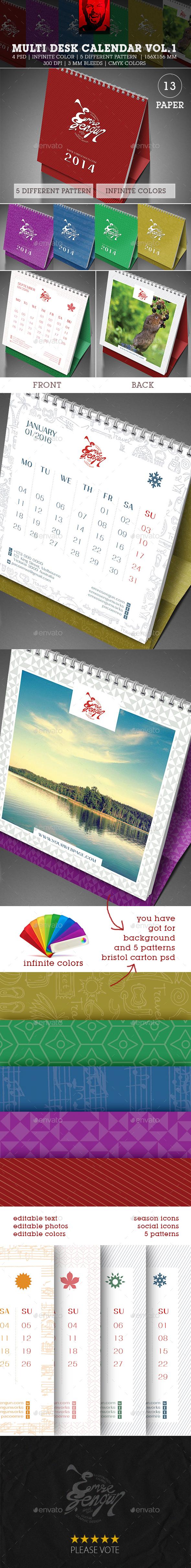 2016 Multi Desk Calendar Vol.1 - Calendars Stationery