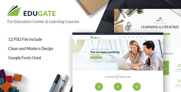 EduGate – Education PSD template