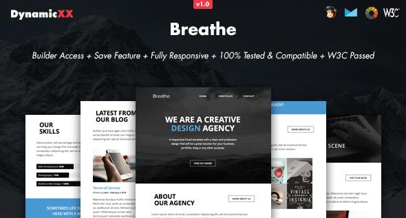 Breathe – Responsive Email + Online Builder