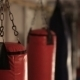 Punching Bags In A Dark Gym - VideoHive Item for Sale