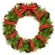 Christmas Wreath with Red Bow - GraphicRiver Item for Sale