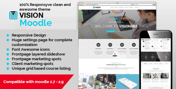 Vision – Responsive Moodle Theme
