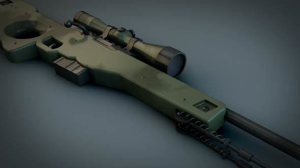 AWP Sniper rifle (CS GO) - 3DOcean Item for Sale