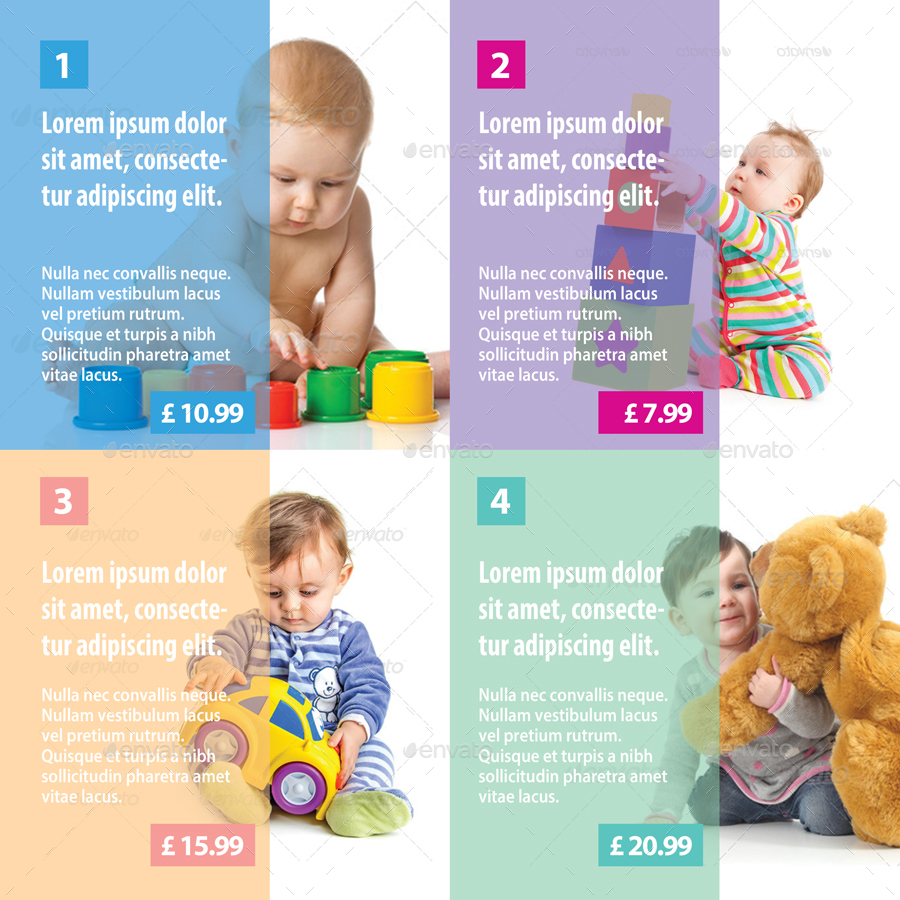baby toys shop bifold brochure 10 by 21min