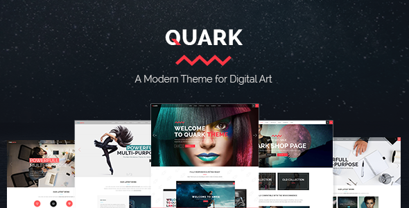 Quark – A Modern Theme for Digital Art