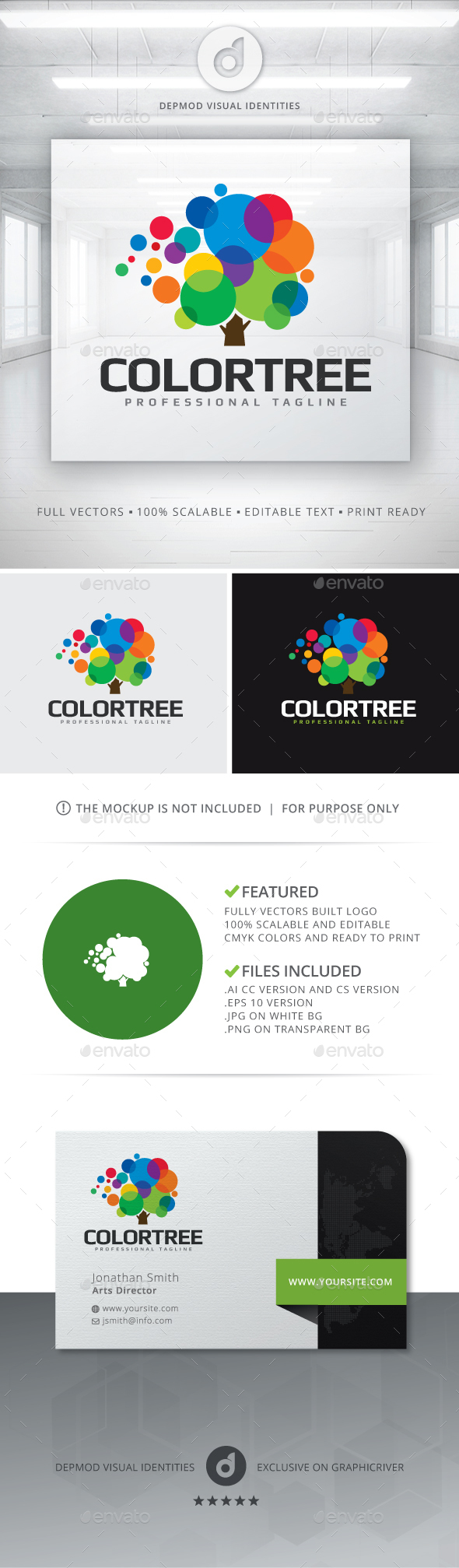 ColorTree Logo - Nature Logo Templates