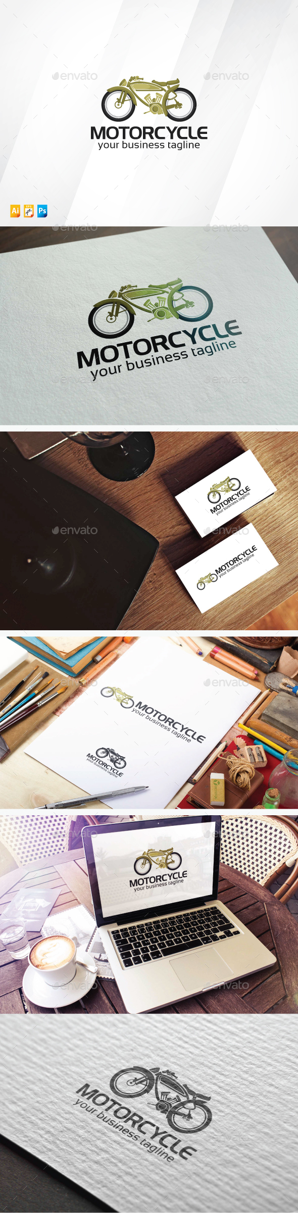 Motorcycle - Objects Logo Templates