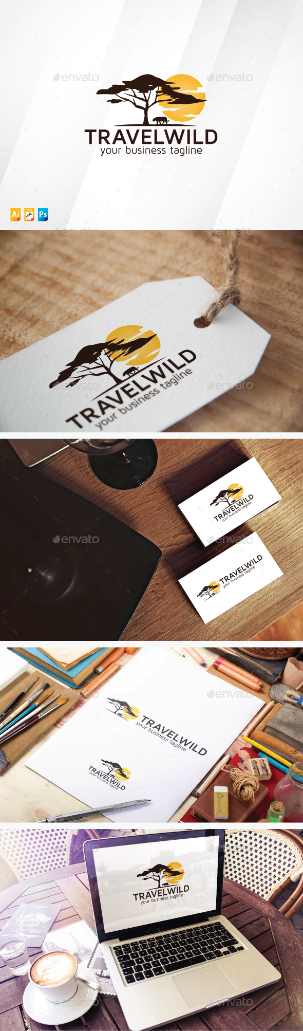 Travel Wild - Nature Logo Templates