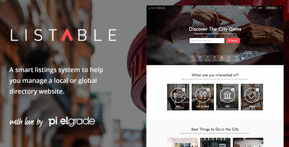 LISTABLE – A Friendly Directory WordPress Theme - Directory & Listings Corporate
