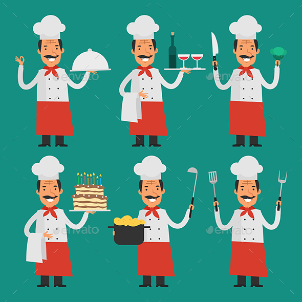 Cheerful Chef - People Characters