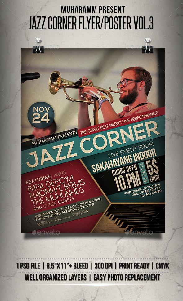 Jazz Corner Flyer / Poster Vol.3 - Events Flyers