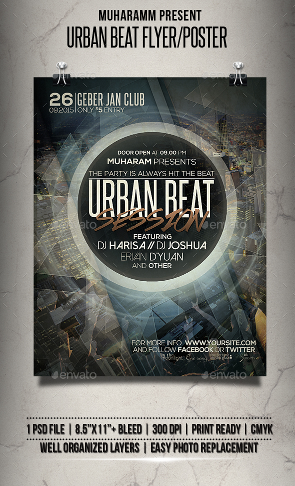 Urban Beat Flyer / Poster - Clubs & Parties Events