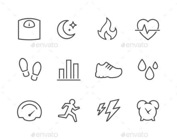 Activity Tracking Icons - Icons
