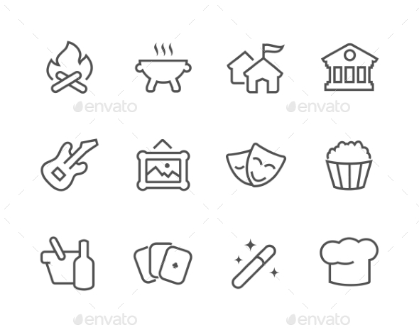 Outline Event Icons. - Miscellaneous Icons