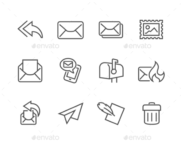 Outline Mail Icons - Icons