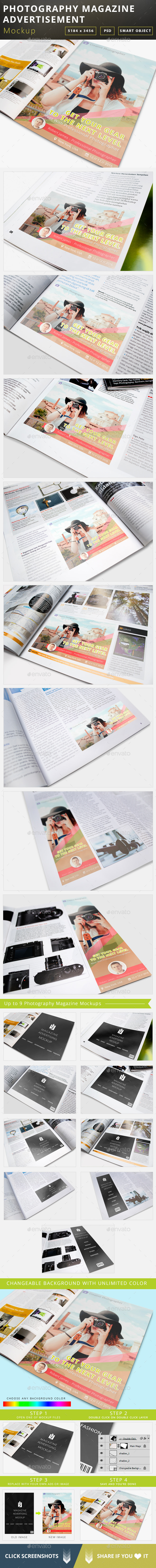 Photography Magazine Advertisement Mockup - Magazines Print