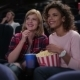 Woman Eating Popcorn And Watching Movie - VideoHive Item for Sale