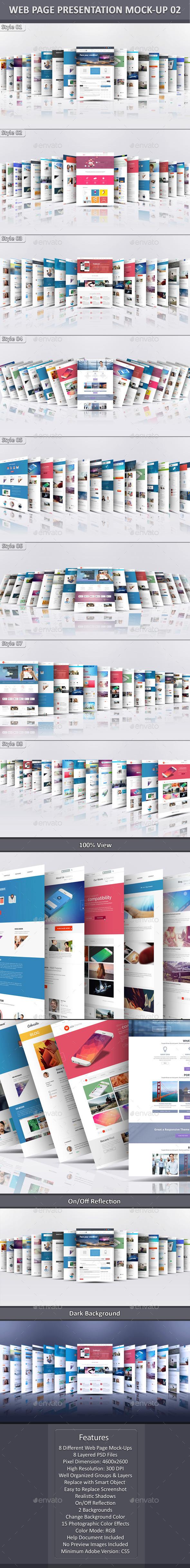 Web Page Presentation Mock-Up 2 - Website Displays
