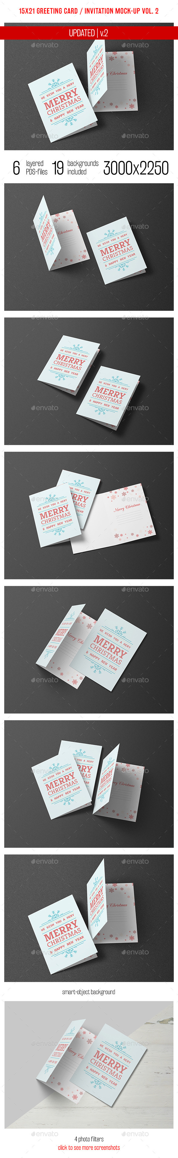 Greeting Card and Invitation Mockup Vol. 2 - Miscellaneous Print