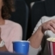 Couple In Cinema Theater Eating Popcorn - VideoHive Item for Sale