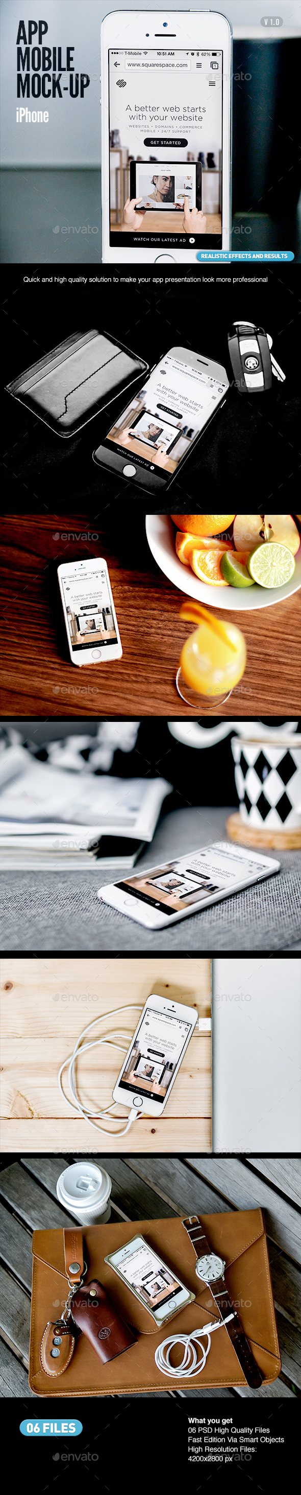 iPhone Mobile App Screen Devices MockUp - Mobile Displays