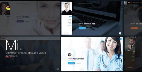 Mi. – Ultimate Personal Resume vCard Template