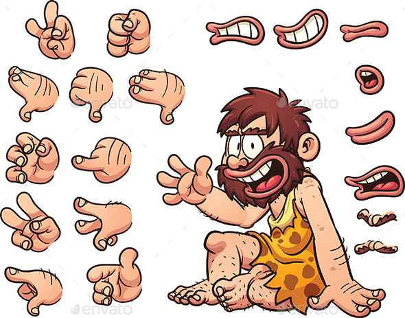 Cartoon Caveman - People Characters