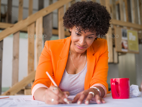 Getting your house plan ready - Stock Photo - Images