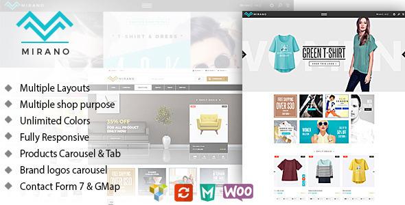 Mirano – Multipurpose Responsive WooCommerce Theme