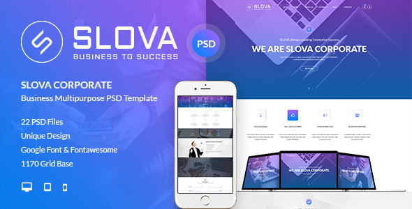 Slova - Corporate PSD Template - Corporate PSD Templates