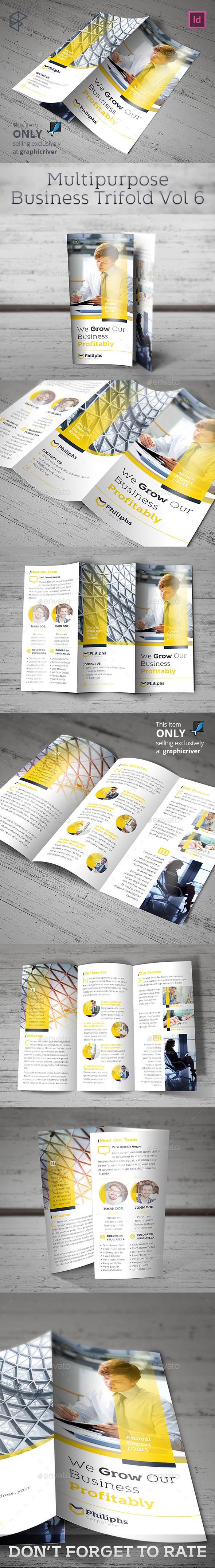 Multipurpose Business Trifold Vol 6 - Corporate Brochures