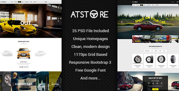 ATStore - Multipurpose eCommerce PSD Template