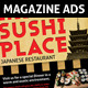 Restaurant Magazine Ads or flyer - GraphicRiver Item for Sale