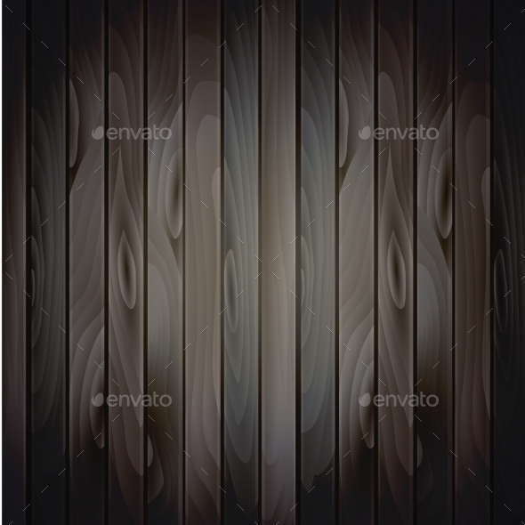 Vector Wood Plank Background - Backgrounds Decorative