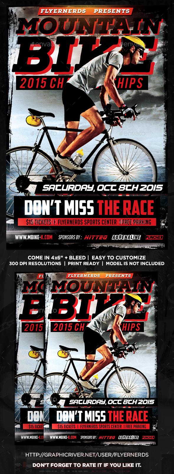 Mountain Bike Sports Flyer - Sports Events