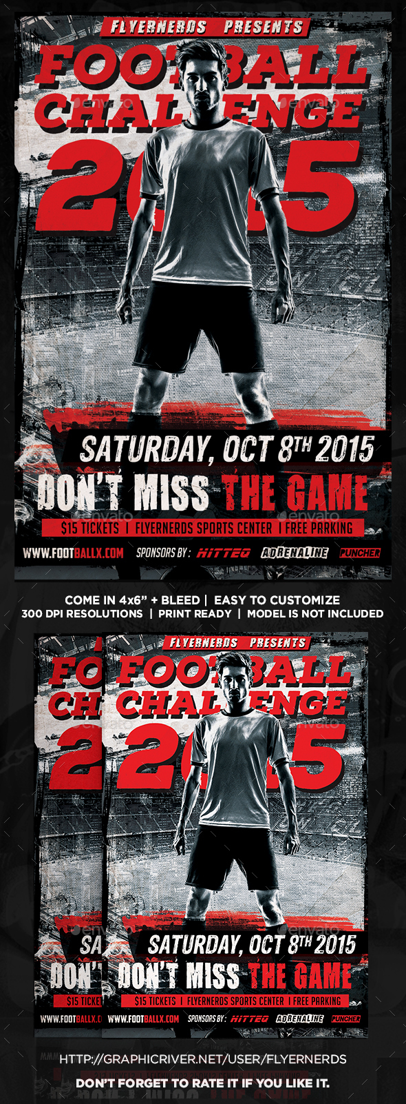 Football Challenge Sports Flyer - Sports Events
