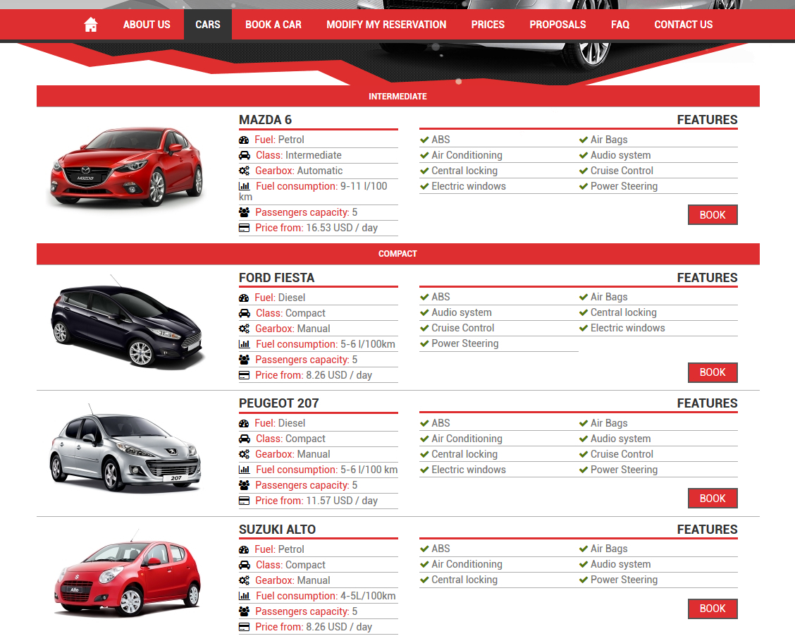 Design car rental database