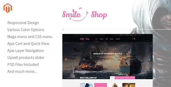 Smileshop – Multipurpose Responsive Magento Theme