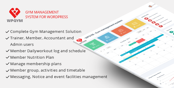 WPGYM - Wordpress Gym Management System - CodeCanyon Item for Sale