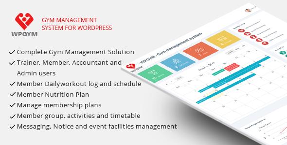 WPGYM – WordPress Gym Management System