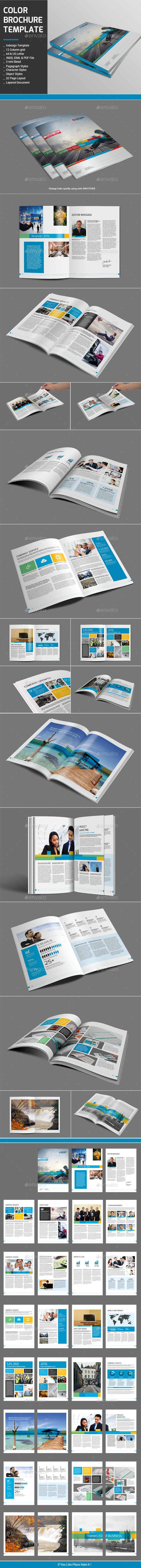 Color Brochure Template - Corporate Brochures