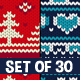 Christmas Seamless Knitting Pattern Set - GraphicRiver Item for Sale