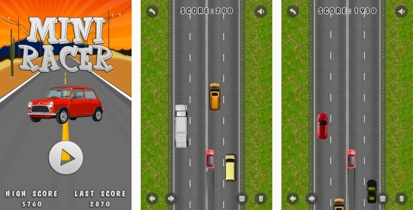 Mini Racer - HTML5 Game + Android + AdMob (Capx) - CodeCanyon Item for Sale