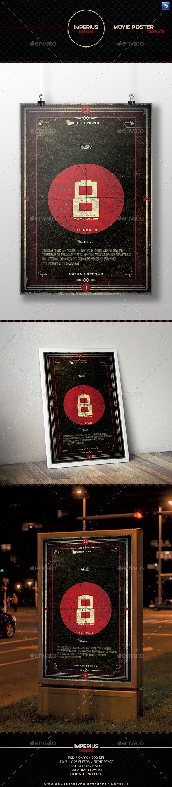 8 Ball Movie Poster - Miscellaneous Events