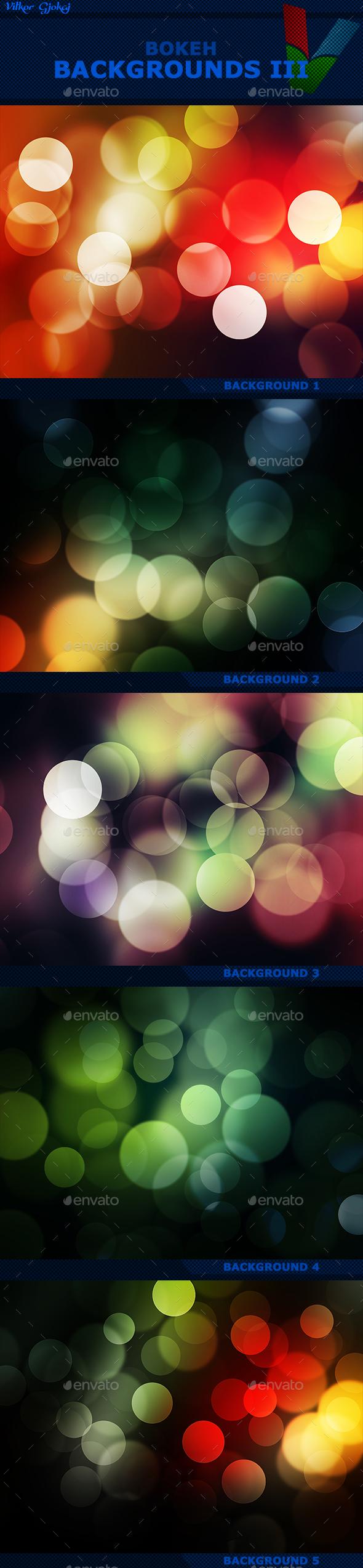 Bokeh Backgrounds III - Abstract Backgrounds