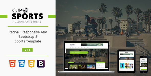 Sports Cup – Bootstrap 3 Sporting WordPress Theme