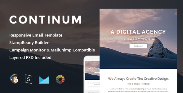 Continum – Responsive Email + StampReady Builder