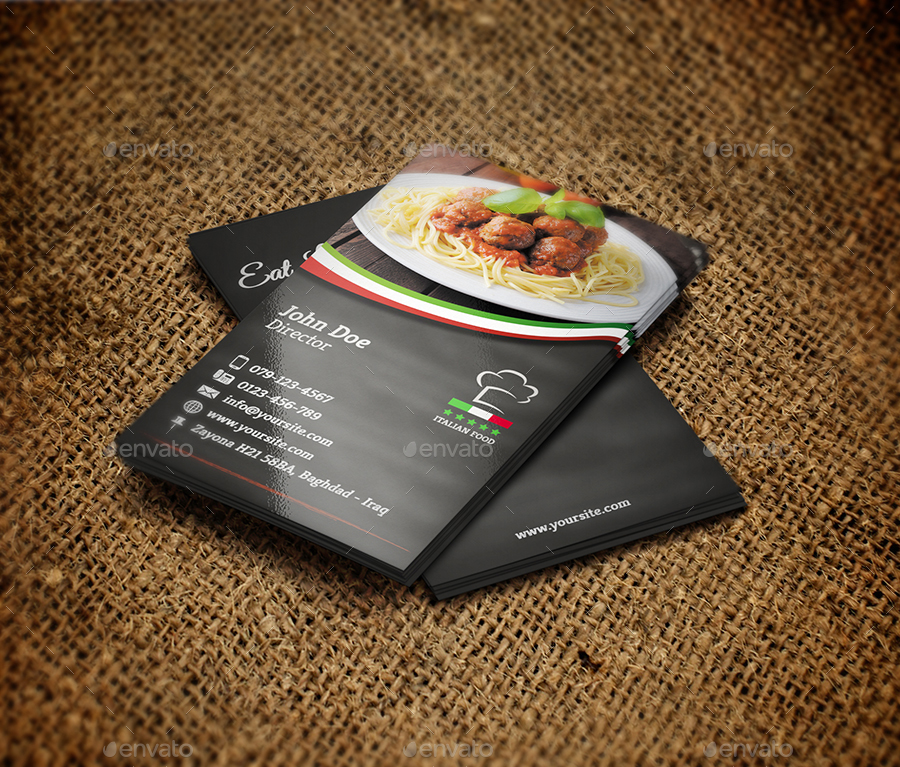 Italian restaurant business card template by owpictures graphicriver italian restaurant business card template colourmoves