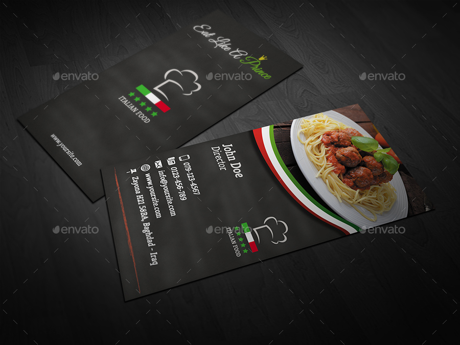 Italian restaurant business card template by owpictures graphicriver business cards print templates 01italianrestaurantbusinesscardtemplateg 02italianrestaurantbusinesscardtemplateg flashek Gallery